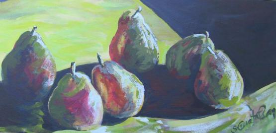 Pears In Shadow 2016