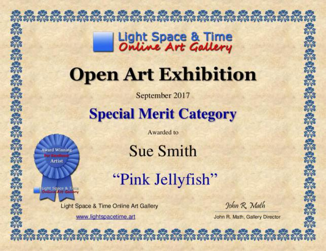 PINK JELLYFISH  (International Award For Exceptional Art 2017)