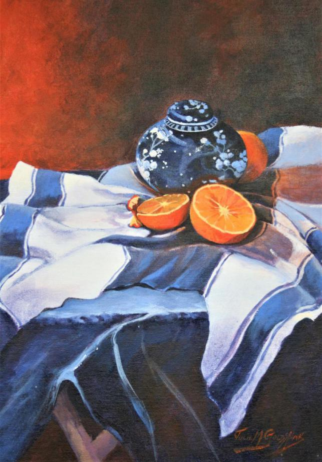Still Life With Ginger Jar And Oranges