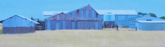 Mauve And Grey Sheds (Near Cunliffe)