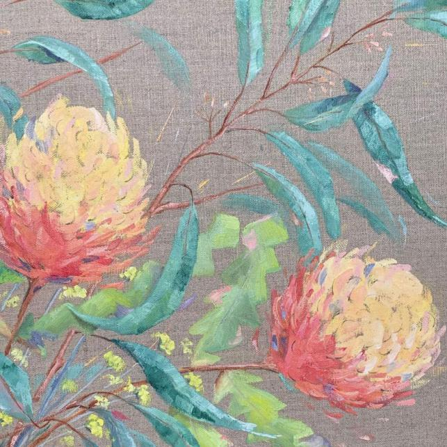 Banksias And Gum Leaves
