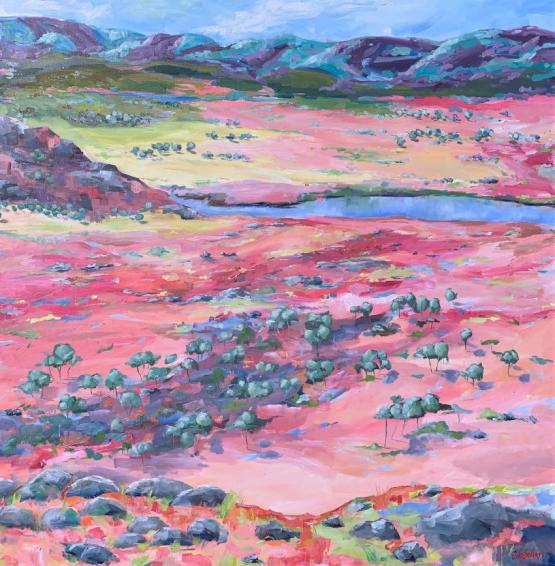 Larapinta (Finke River) Northern Territory - Painted Landscape Series