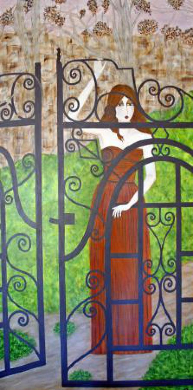 Lady behind Gate