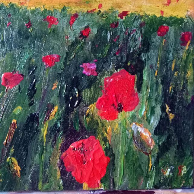 Poppies detail