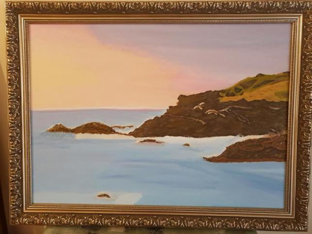 Painting Of Tacking Point Beach, Port Macquarie