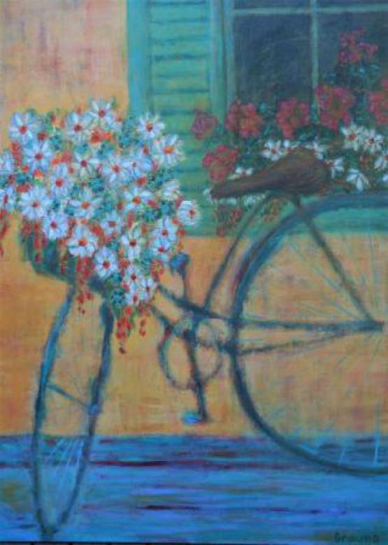 Flowers, Bikes And Beauty