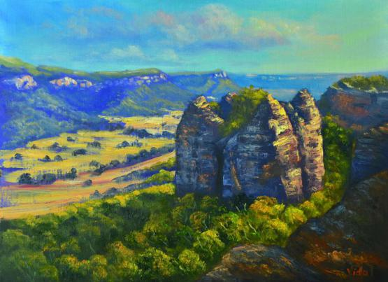 The View From Donkey Mountain, Blue Mountains - Oil Ready To Hang